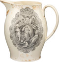 Antiques:Decorative Americana, George Washington: Patriotic Liverpool Pitcher....
