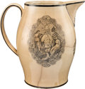 Antiques:Decorative Americana, George Washington: Large Presidential Pitcher....