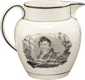 Antiques:Decorative Americana, War of 1812: Jones and Hull Liverpool-style Transfer Jug....
