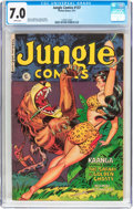 Golden Age (1938-1955):Adventure, Jungle Comics #137 (Fiction House, 1951) CGC FN/VF 7.0 White pages....