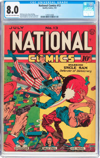National Comics #13 (Quality, 1941) CGC VF 8.0 Light tan to off-white pages