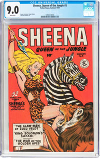 Sheena, Queen of the Jungle #5 (Fiction House, 1949) CGC VF/NM 9.0 White pages