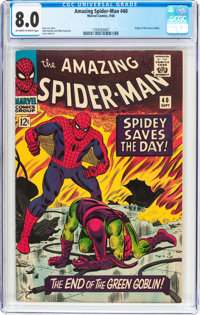 The Amazing Spider-Man #40 (Marvel, 1966) CGC VF 8.0 Off-white to white pages