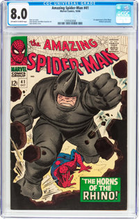 The Amazing Spider-Man #41 (Marvel, 1966) CGC VF 8.0 Off-white to white pages
