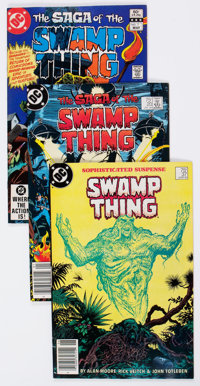 Saga of the Swamp Thing Group of 94 (DC, 1982-90) Condition: Average FN/VF.... (Total: 94 Comic Books)