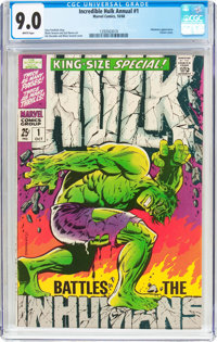 The Incredible Hulk Annual #1 (Marvel, 1968) CGC VF/NM 9.0 White pages
