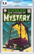 Bronze Age (1970-1979):Horror, House of Mystery #178 (DC, 1969) CGC NM 9.4 White pages....