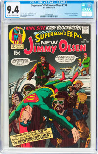 Superman's Pal Jimmy Olsen #134 (DC, 1970) CGC NM 9.4 Off-white to white pages