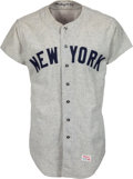 Baseball Collectibles:Uniforms, 1970 Ron Blomberg Game Worn New York Yankees Uniform.. ...