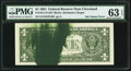 Error Notes:Ink Smears, Major Ink Smear Fr. 1911-D $1 1981 Federal Reserve Note. PMG ChoiceUncirculated 63 EPQ.. ...