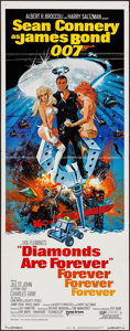 "Movie Posters:James Bond, Diamonds are Forever (United Artists, 1971). Insert (14"" X 36"").James Bond.. ..."