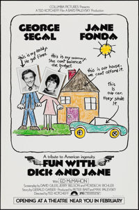 """Fun with Dick and Jane & Other Lot (Columbia, 1977). One Sheets (2) (27"""" X 41"""") Advance. Comedy. ... (..."""