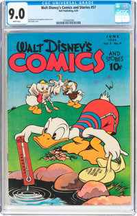 Walt Disney's Comics and Stories #57 (Dell, 1945) CGC VF/NM 9.0 White pages