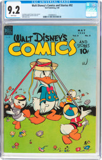 Walt Disney's Comics and Stories #92 (Dell, 1948) CGC NM- 9.2 White pages