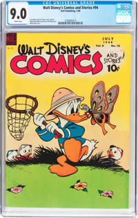 Walt Disney's Comics and Stories #94 (Dell, 1948) CGC VF/NM 9.0 White pages