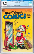Golden Age (1938-1955):Cartoon Character, Walt Disney's Comics and Stories #99 (Dell, 1948) CGC NM- 9.2 White pages....