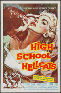 "Movie Posters:Exploitation, High School Hellcats (American International, 1958). One Sheet (27"" X 41""). Exploitation.. ..."