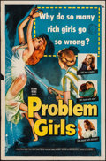 "Movie Posters:Mystery, Problem Girls (Columbia, 1953). One Sheet (27"" X 41""). Mystery.. ..."