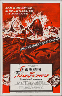 """The Sharkfighters (United Artists, 1956). One Sheet (27"""" X 41""""). Adventure"""