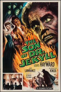 "The Son of Dr. Jekyll (Columbia, 1951). One Sheet (27"" X 41""). Horror"