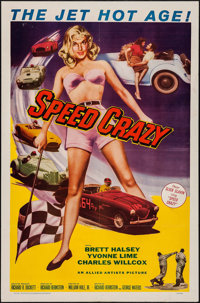 "Speed Crazy (Allied Artists, 1959). One Sheet (27"" X 41""). Exploitation"