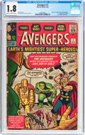 Silver Age (1956-1969):Superhero, The Avengers #1 (Marvel, 1963) CGC GD- 1.8 Cream to off-whitepages....