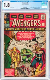 The Avengers #1 (Marvel, 1963) CGC GD- 1.8 Cream to off-white pages