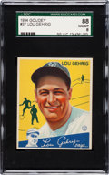 Baseball Cards:Singles (1930-1939), 1934 Goudey Lou Gehrig #37 SGC 88 NM/MT 8....