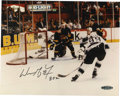 """Hockey Collectibles:Photos, Wayne Gretzky Single Signed Photograph. Known simply as """"The GreatOne"""", Wayne Gretzky set so many records in the NHL, most..."""