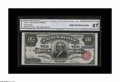 Large Size:Silver Certificates, Fr. 299 $10 1891 Silver Certificate CGA Gem Uncirculated 67. Theattractiveness of this Red Seal Blue Serial Tombstone is th...