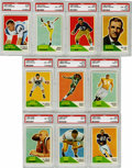 Football Cards:Sets, 1960 Fleer Football Near Set (130/132). Near set (130/132) is missing only #66 Cannon and 132 Beagle. A total of 12 cards h...