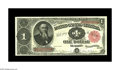 Large Size:Treasury Notes, Fr. 352 $1 1891 Treasury Note Very Choice New. The bottom margin is a touch too small for a Gem designation, but the notes a...