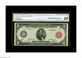 Large Size:Federal Reserve Notes, Fr. 834a $5 1914 Red Seal Federal Reserve Note CGA Gem Uncirculated 68. To our best knowledge, this gorgeous piece is the fi...