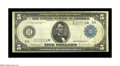 Fr. 862 $5 1914 Federal Reserve Note Star Very Fine. This example, from the Merlau collection, is very close to the fine...