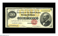 Large Size:Gold Certificates, Fr. 1178 $20 1882 Gold Certificate Choice Very Fine. A handsomenote, with broad margins, strong color, original paper surfa...