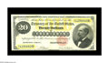 Large Size:Gold Certificates, Fr. 1178 $20 1882 Gold Certificate Very Fine. Though this $20 Goldwas wet at one time, it still boasts vivid colors. A coup...