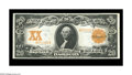 Large Size:Gold Certificates, Fr. 1181 $20 1906 Gold Certificate Gem New. Hugely margined, withabsolutely spectacular color and all the eye appeal in the...