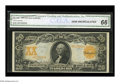 Large Size:Gold Certificates, Fr. 1185 $20 1906 Gold Certificate CGA Gem Uncirculated 66. Agorgeous example with stunningly bright colors and excellent c...