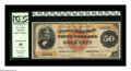 Large Size:Gold Certificates, Fr. 1191 $50 1882 Gold Certificate PCGS Extremely Fine 40. In itsmost recent auction appearance, we sold this note as lot 1...