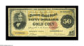 Large Size:Gold Certificates, Fr. 1193 $50 1882 Gold Certificate Fine. There are two paper clip rust stains on both the face and back of this note, which ...