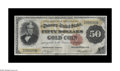 Large Size:Gold Certificates, Fr. 1194 $50 1882 Gold Certificate Fine. Save for a number of closed pinholes, this is a problem-free example of a more chal...