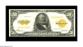 Large Size:Gold Certificates, Fr. 1200 $50 1922 Gold Certificate Fine+. This note, which appears to have been wet at one time, shows a closed pinhole in t...