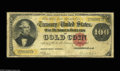 Large Size:Gold Certificates, Fr. 1206 $100 1882 Gold Certificate Very Good. The note has a few small pinholes and a little roughness at the edges as one ...
