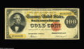 Large Size:Gold Certificates, Fr. 1212 $100 1882 Gold Certificate Fine. This rare GoldCertificate has some claim to the VF grade, but the extra-largetop...
