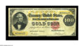 Large Size:Gold Certificates, Fr. 1213 $100 1882 Gold Certificate Very Fine. This is quite a scarce number, with just over 30 examples listed in the censu...