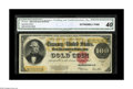 Large Size:Gold Certificates, Fr. 1215 $100 1922 Gold Certificate CGA Extremely Fine 40. The inkcolors are as bold on this note as they would be on a Gem...