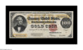 Large Size:Gold Certificates, Fr. 1215 $100 1922 Gold Certificate Very Fine. You don't spit into the wind; you don't pull the mask off of the Lone Ranger ...