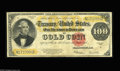 Large Size:Gold Certificates, Fr. 1215 $100 1922 Gold Certificate Fine-Very Fine. This circulatedGold Hundred is absolutely problem-free for the grade, w...