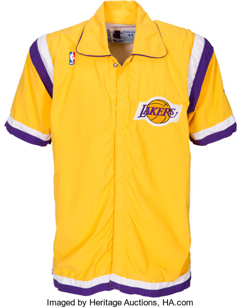 finest selection 0aa3a b8825 1992-93 James Worthy Game Worn Los Angeles Lakers Warmup ...