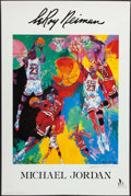 Basketball Collectibles:Others, 1991 Michael Jordan LeRoy Neiman Print - Signed by Neiman. ...